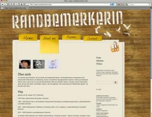 www.randbemerkerin.de